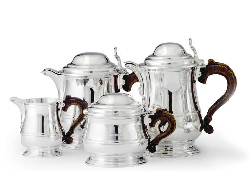 A FRENCH SILVER FOUR-PIECE TEA AND COFFEE SERVICE