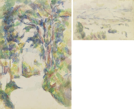 Route tournante (recto); La Montagne Sainte-Victoire vue des lauves (verso)
