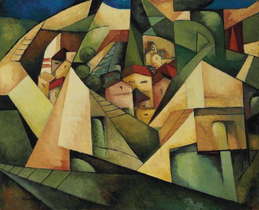 Paysage cubiste