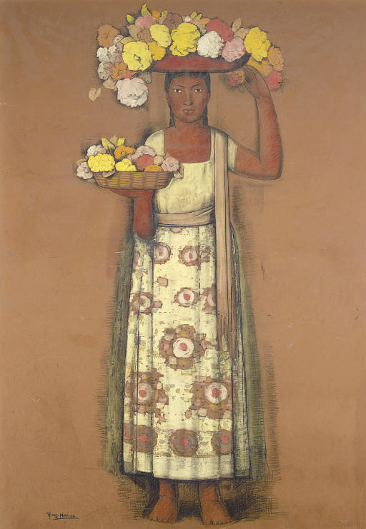 Untitled (Woman with Flowers)