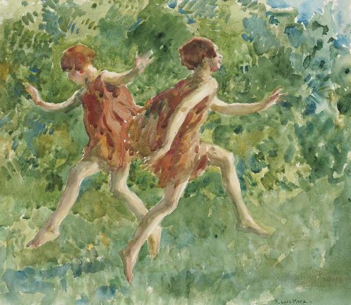 Girls Dancing in a Landscape