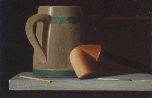 Still Life with Mug and Pipe