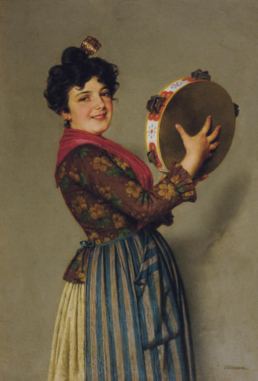 The tambourine player