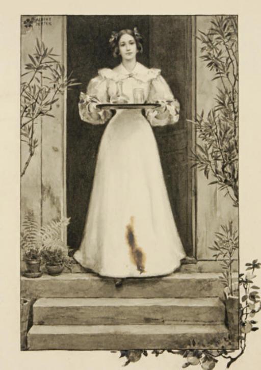 Lady serving cocktails