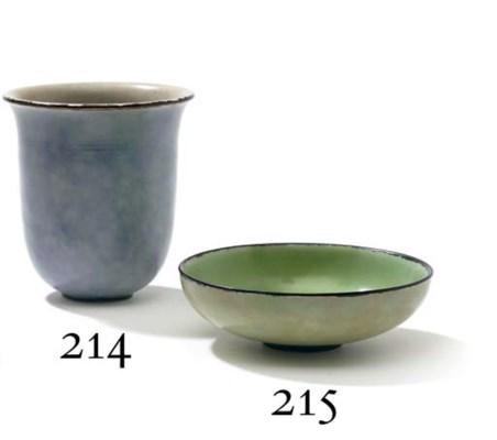 emile decoeur 1876 1953 vase cylindrique sur talon vers 1925 christie 39 s. Black Bedroom Furniture Sets. Home Design Ideas