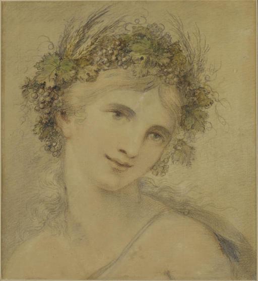 Euphrosyne portant une couronne de fleurs