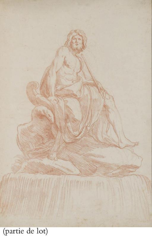 Jupiter assis sur un rocher