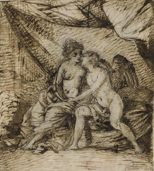 L'Amour et Psyché (recto); Croquis (verso)