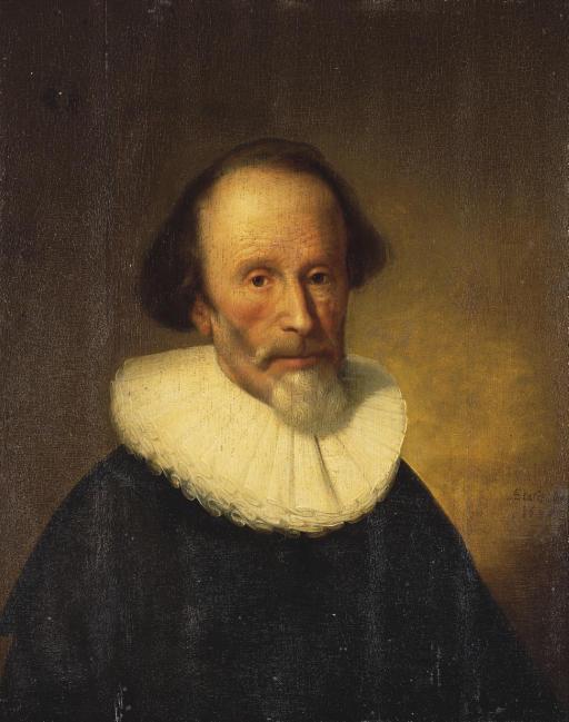 Portrait d'un homme barbu en buste