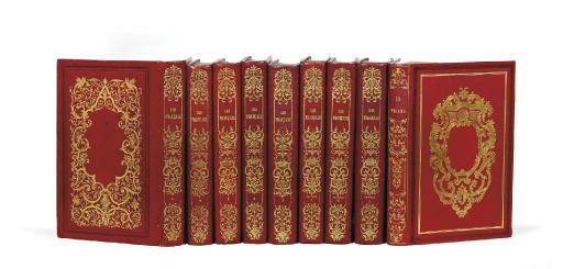 [DAUMIER, DELACROIX, GAVARNI, MONNIER, etc.] Les Français peints par eux-mêmes. Paris: Curmer, 1840-1842. 8 volumes. [Et:]