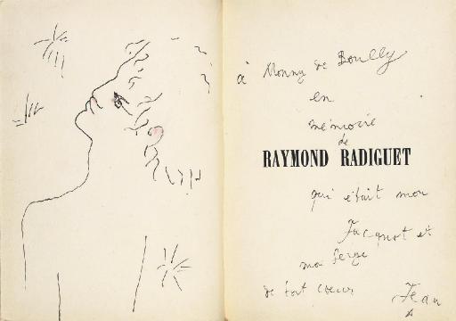 [COCTEAU] -- Henri MASSIS (1886-1970). Raymond Radiguet. Textes inédits de Raymond Radiguet. Deux portraits par Jean Cocteau. Paris: Éditions des Cahiers Libres, 57, avenue Malakoff, 1927 (15 février 1927).