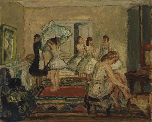 Danseuses dans la loge
