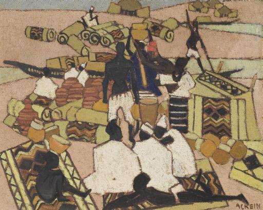Le marché des tapis à Mopti