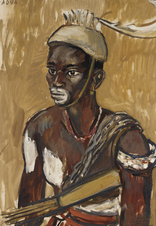 Guerrier lobi, Gaoua, Haute-Volta
