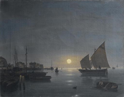 Laguna veneziana al chiaro di luna