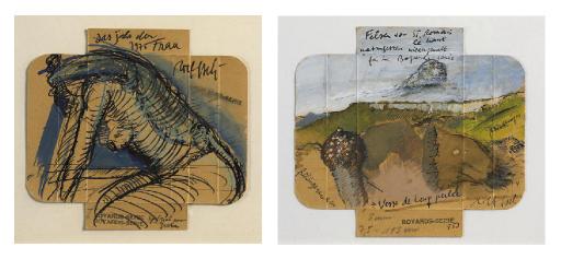 Sammelnummer von zwei Werken: 'Boyards-Serie (Spezial pour Greta)', 1975 und 'Boyards-Serie Nr. 153 (Felsen von St. Romain le haut)', 1974