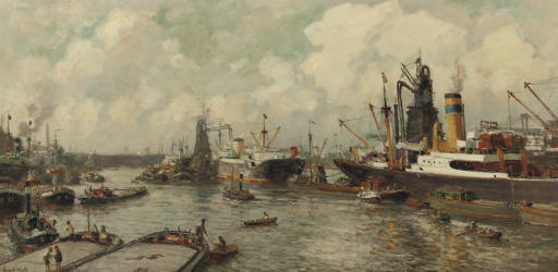 Maashaven Rotterdam: a busy day in the harbour