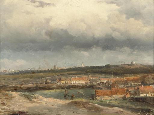An extensive view over the dunes, Scheveningen