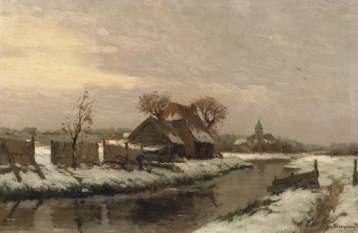 Broeksloot bij Rijswijk: working near a quiet river