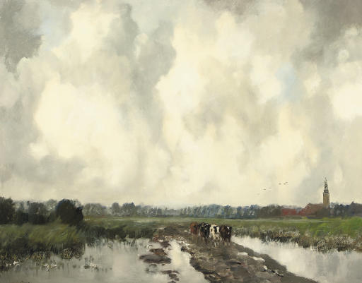 On the outskirts of Nieuwkoop with the Gemeentetoren in the background