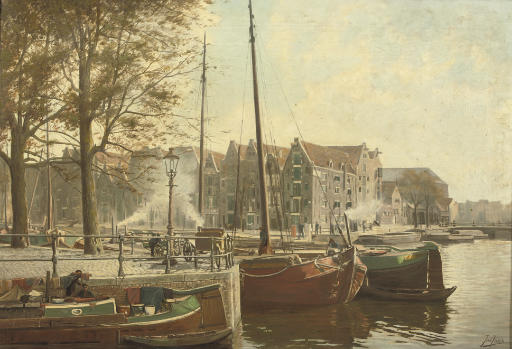A sunlit day on the Oude Schans, Amsterdam