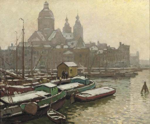 View of the Prins Hendrikkade with the Nicolaaskerk, Amsterdam