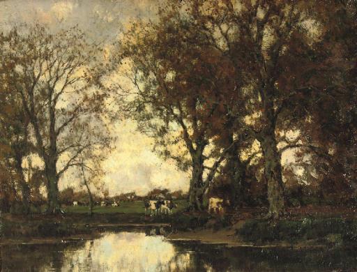 Herfst: cattle by the Vordense beek