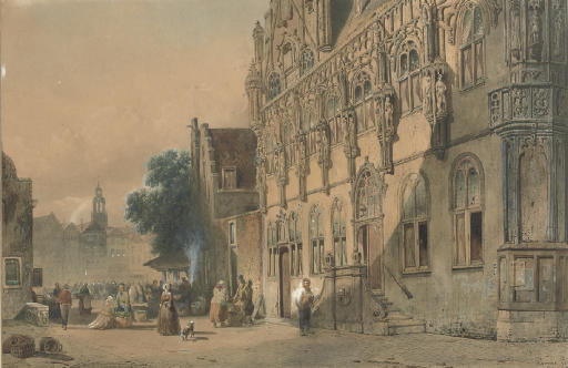The Stadhuis and the Grote Markt, Middelburg