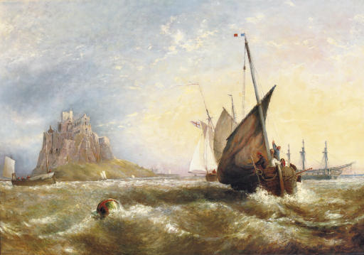 Shipping near St Michael's Mount in Penwith, Cornwall