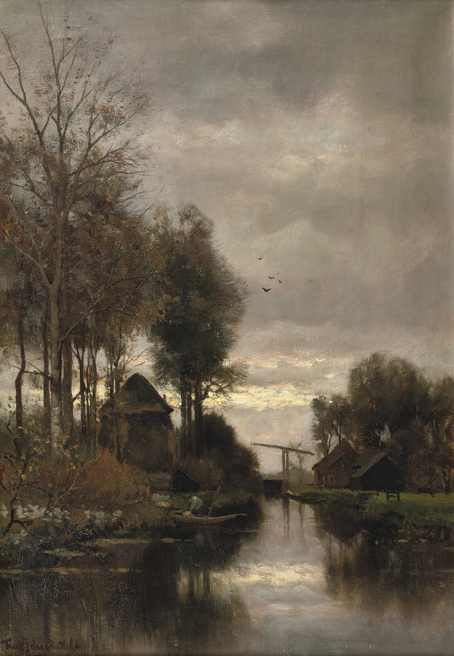 Along a stream on an afternoon in Autumn