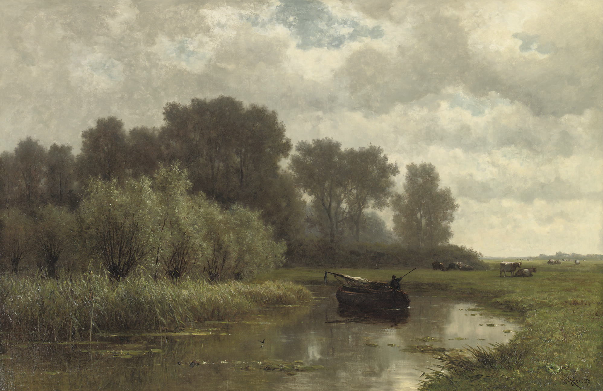 Fishing on the river Gein, near Abcoude