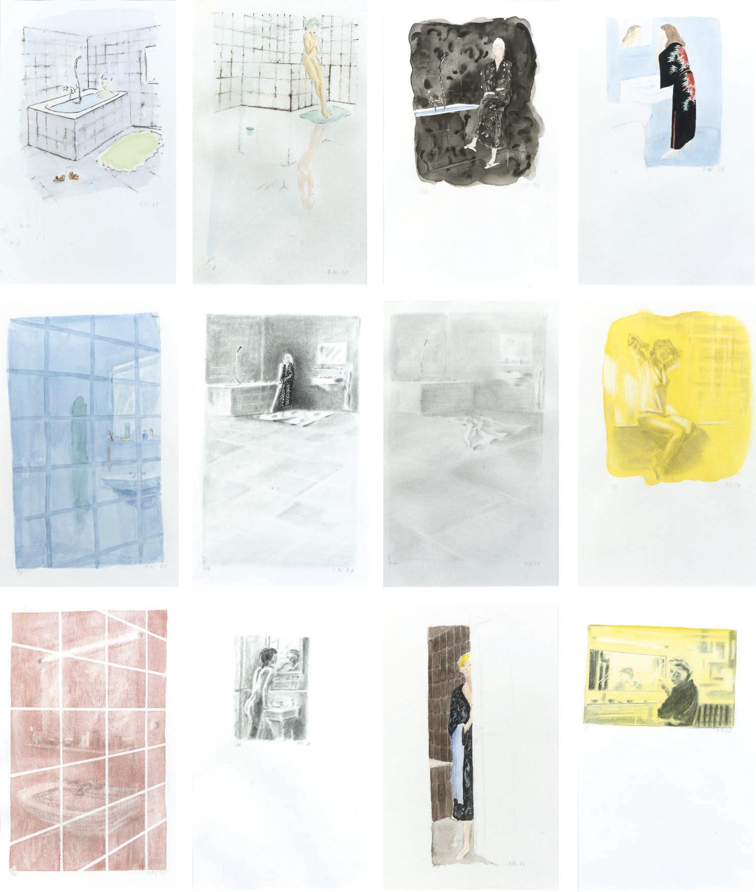 Badezimmer - 12 watercolours