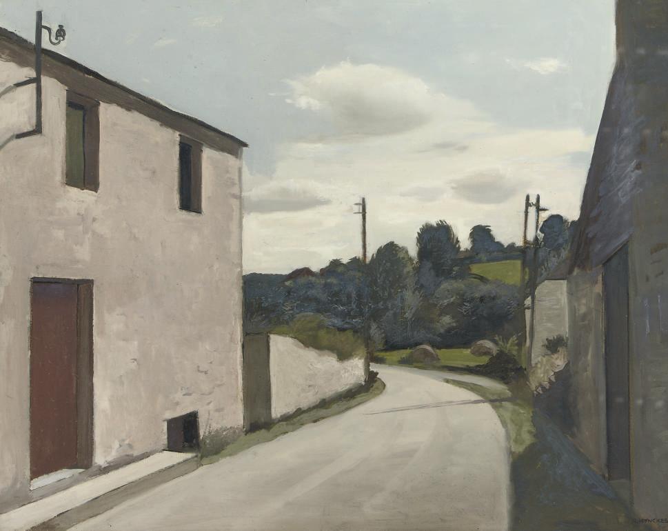 A village street in the Ardennes, Belgium