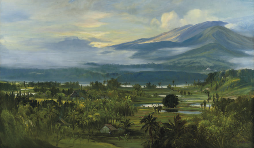 An Indonesian landscape