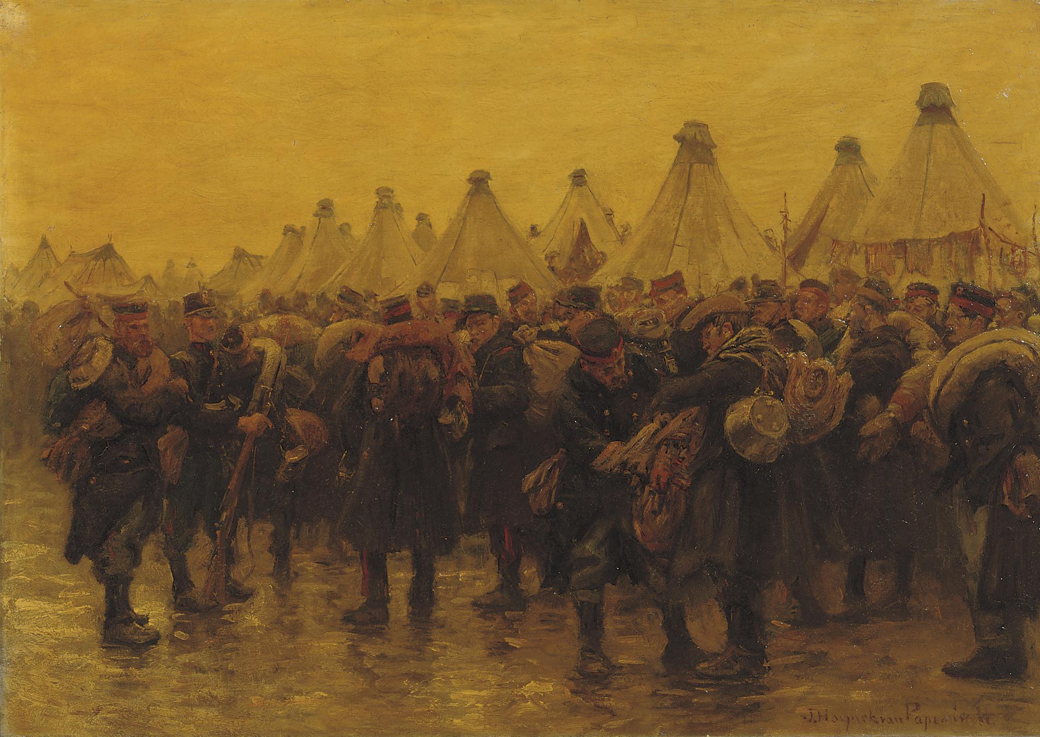 The Belgian infantry in camp Zeist