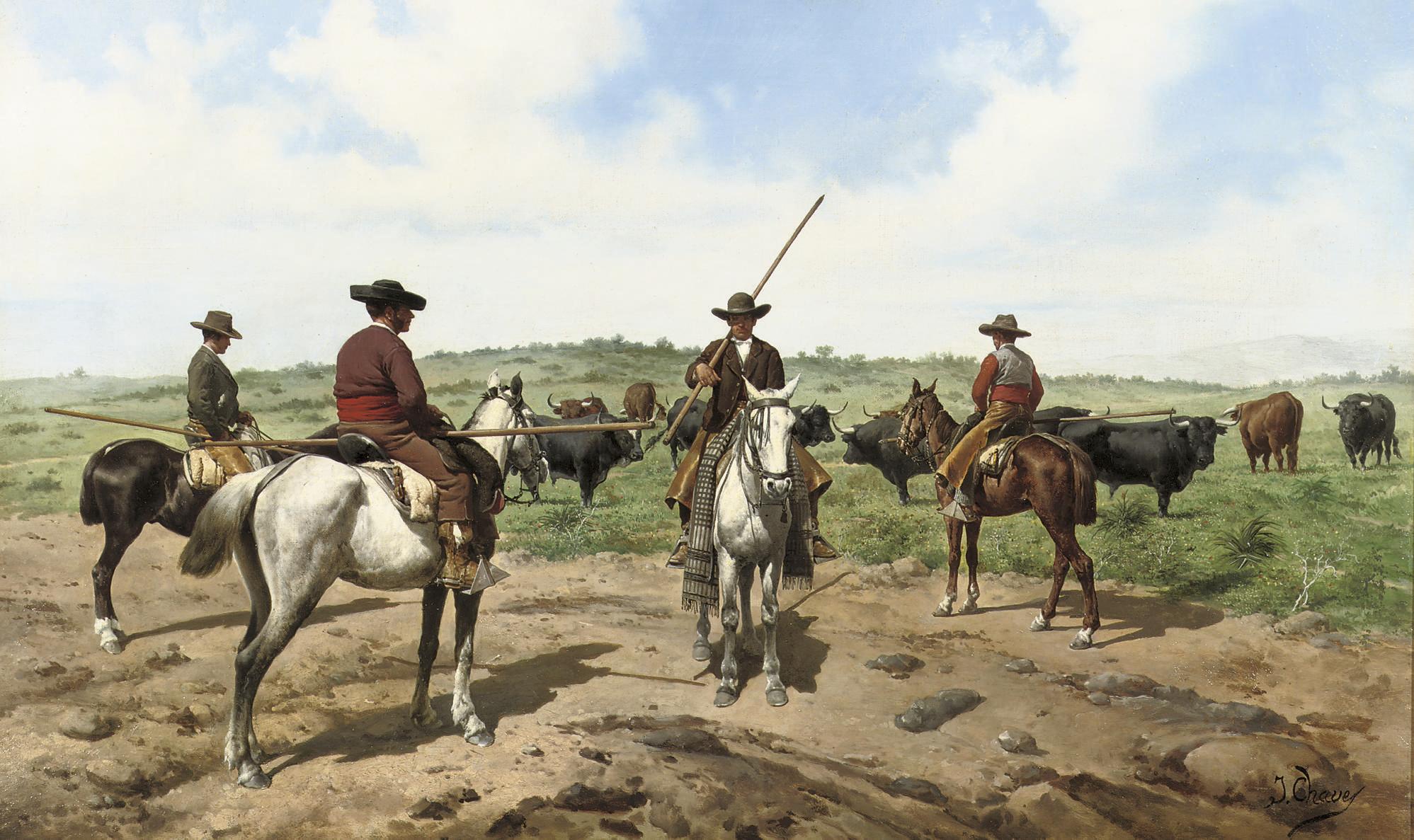 Garrochistas: herding the cattle