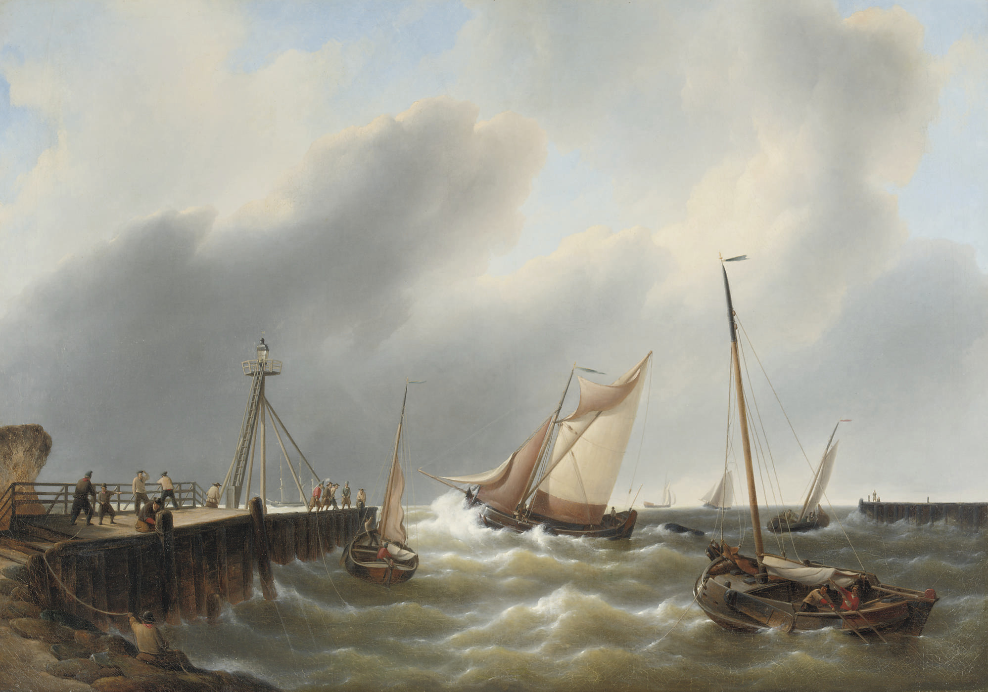 Shipping off a jetty