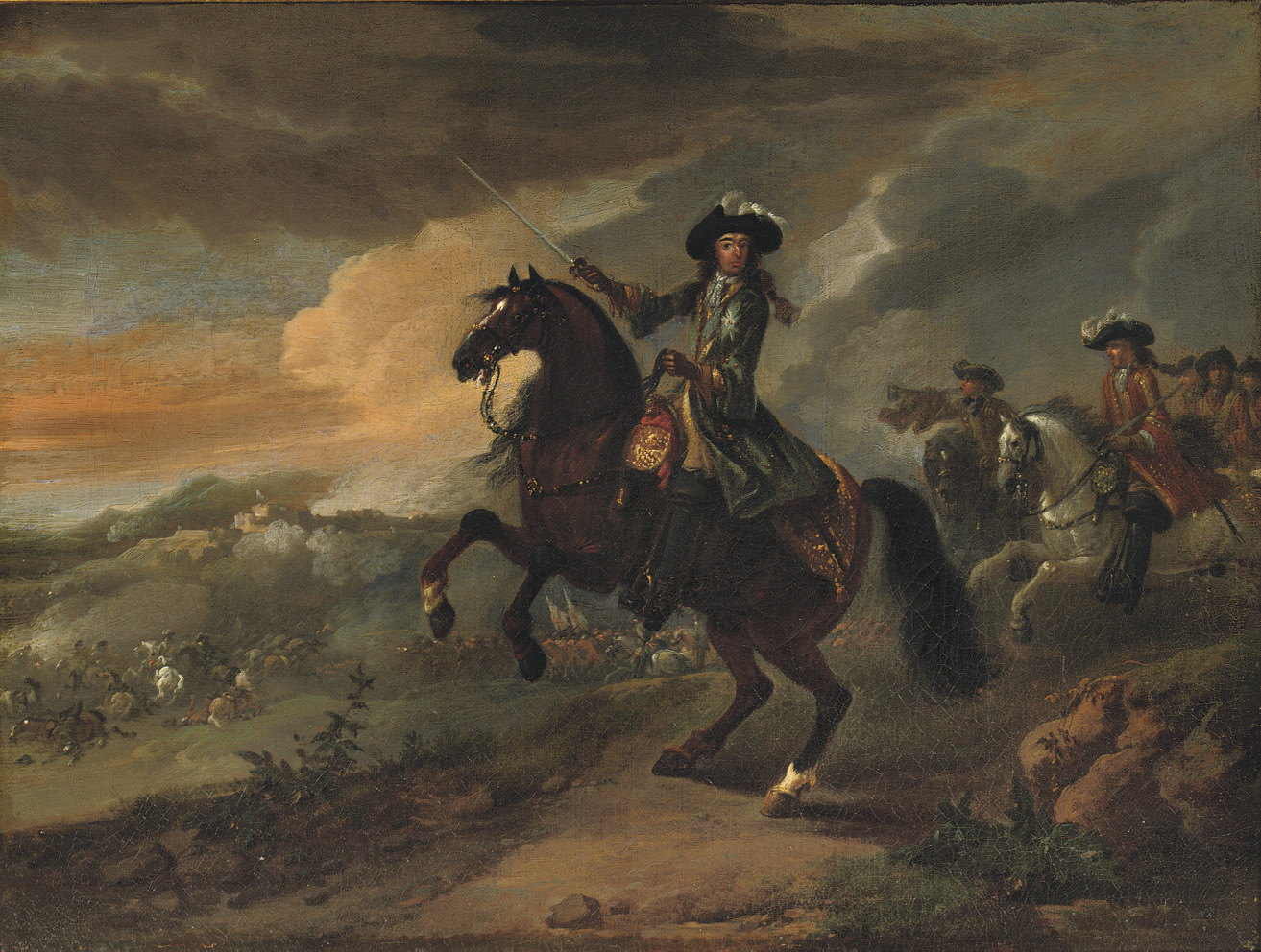 William III leading his troops at the Battle of Namur