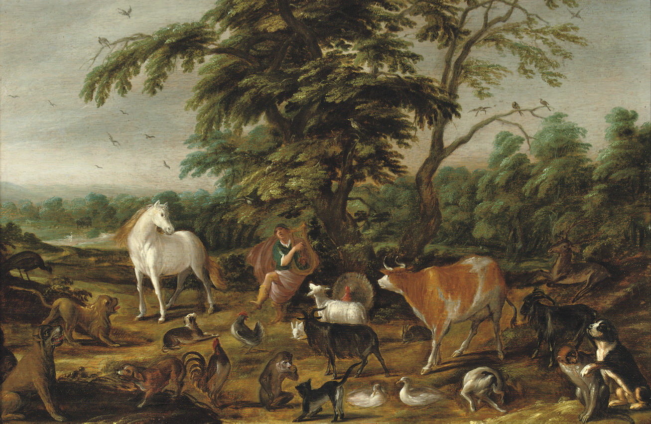 Orpheus enchanting the animals