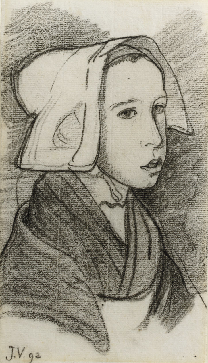 Jeune Bretonne - Young girl from Brittany