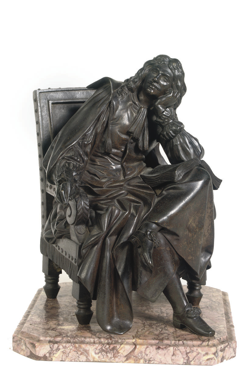 A FRENCH BRONZE FIGURE OF A WRITER