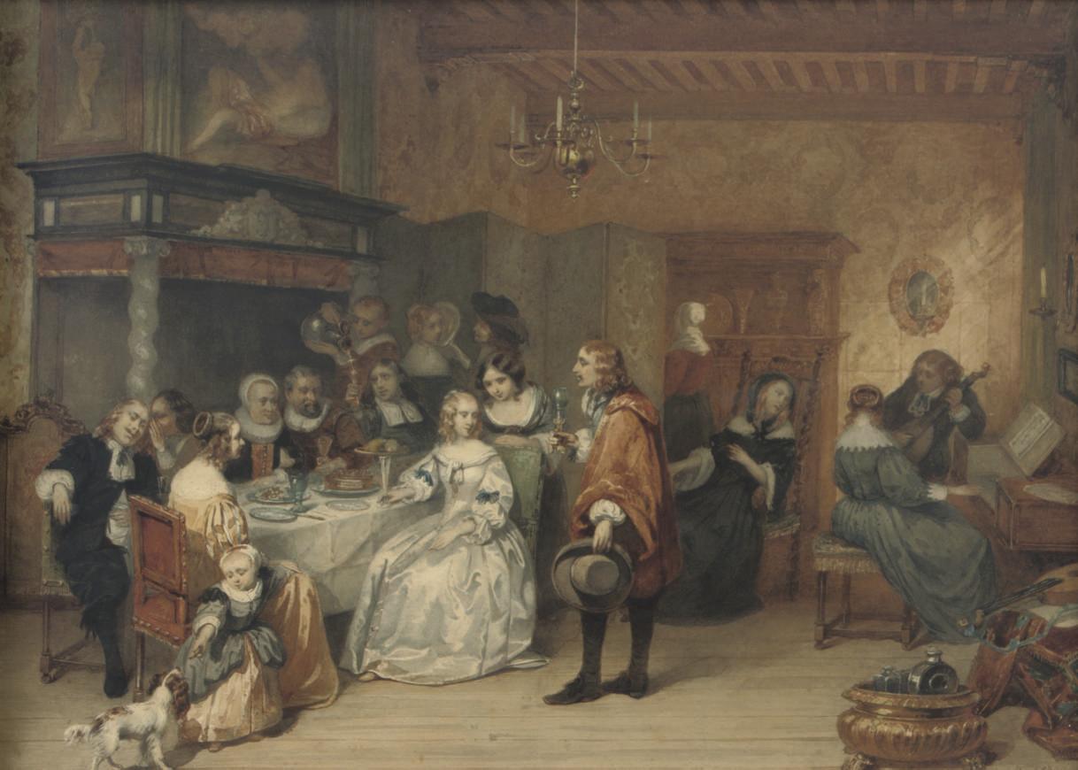 The elegant dinner party