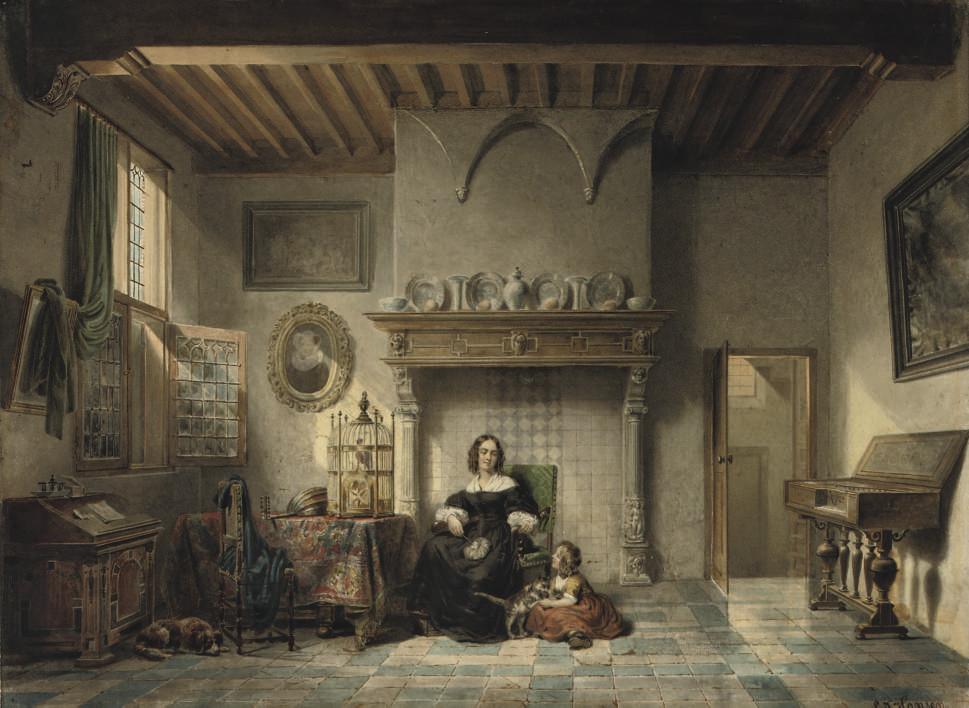 An afternoon in a Dutch interior