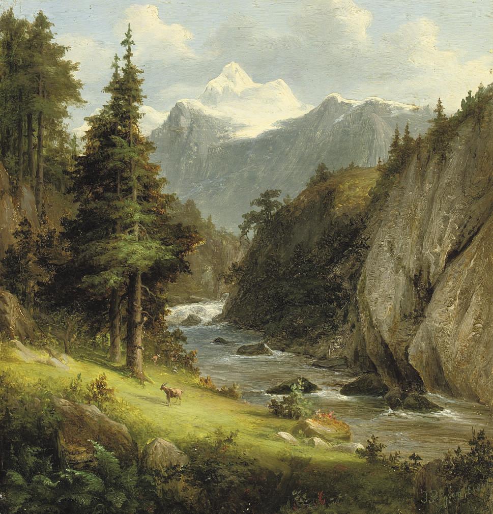 Along a mountain river