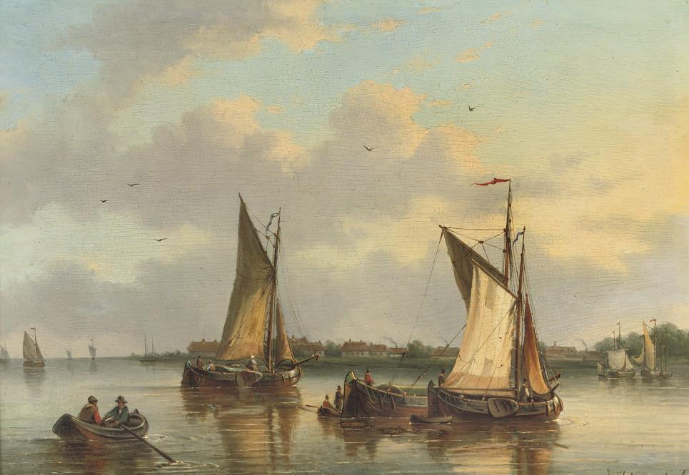 Sailing on a calm