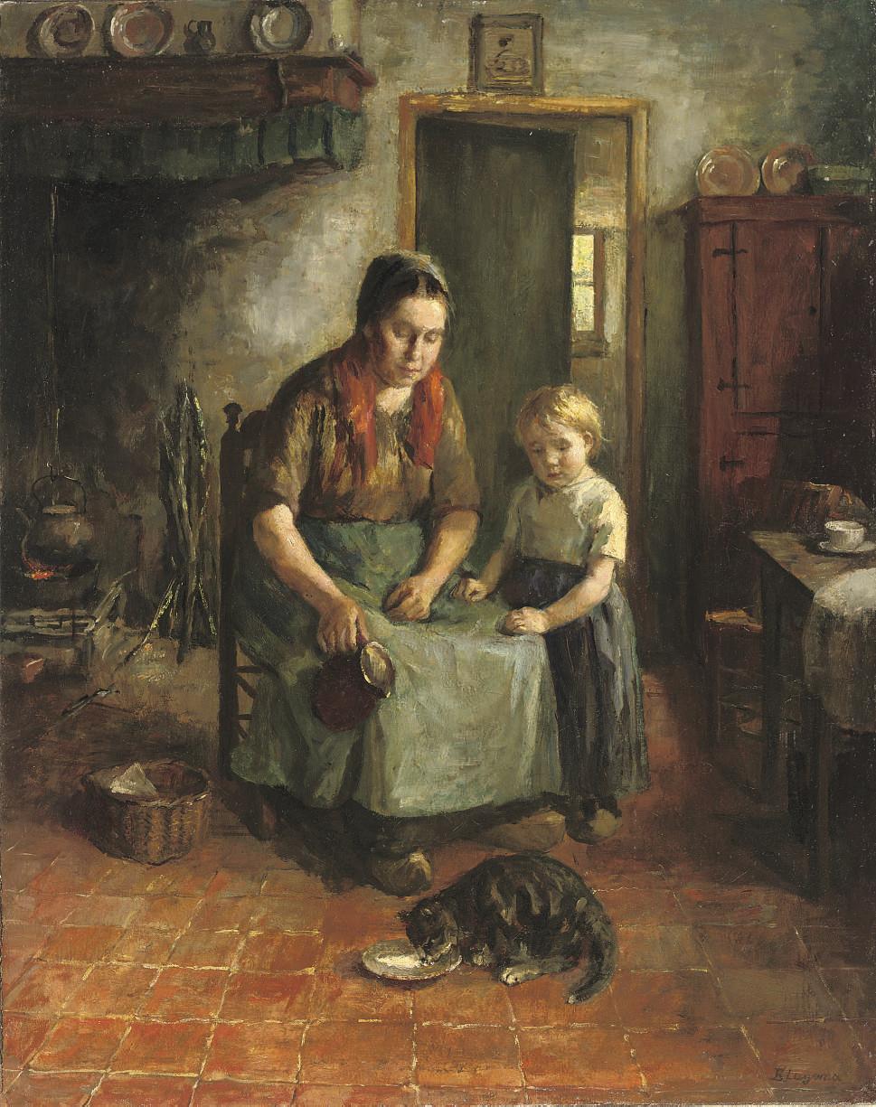 Feeding the kitten