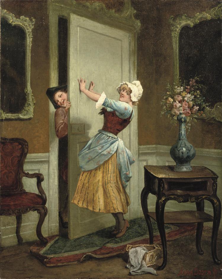 Teasing the maid