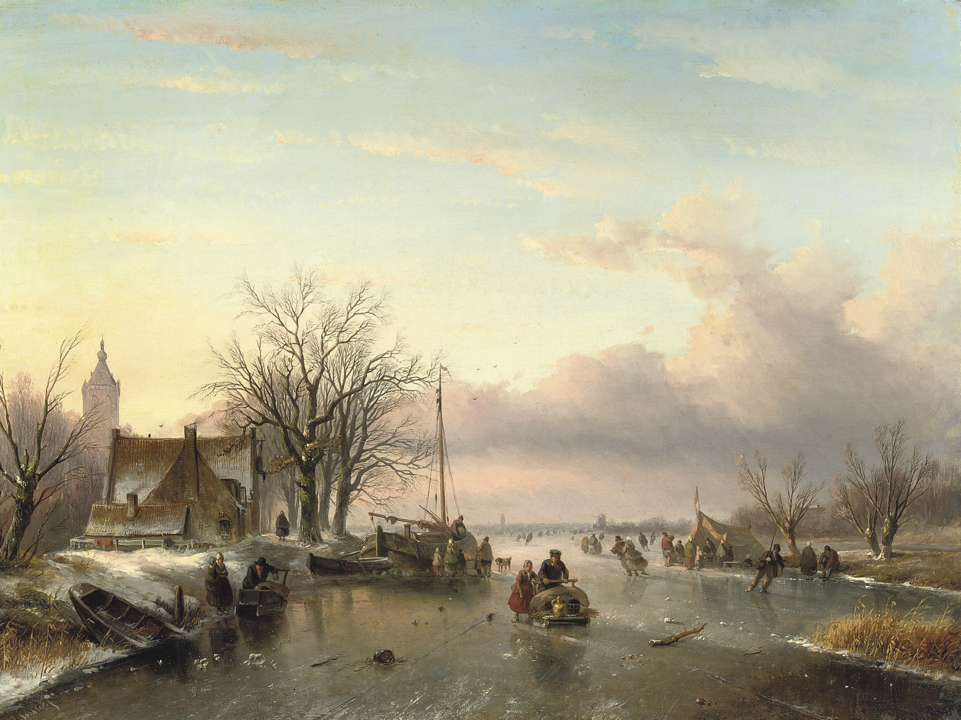 A late afternoon on the ice