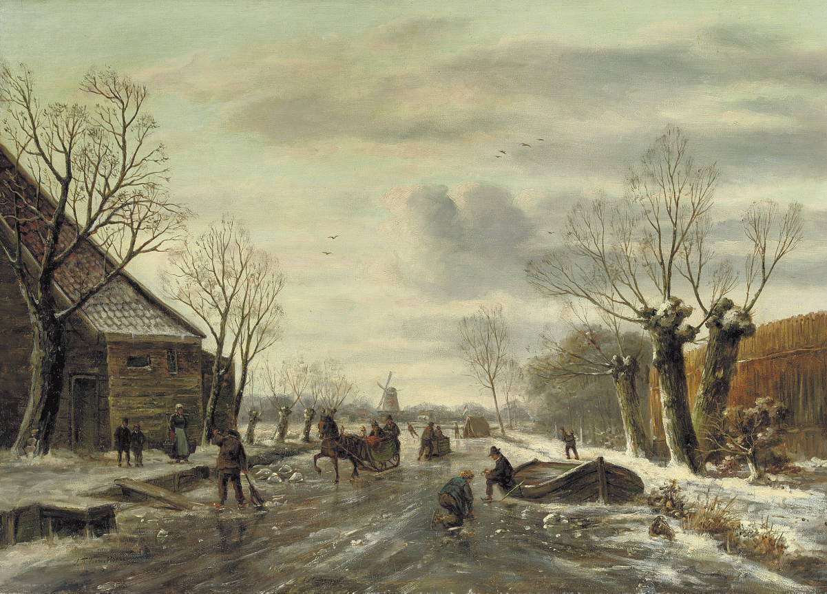 On the ice with a horse-drawn-sledge