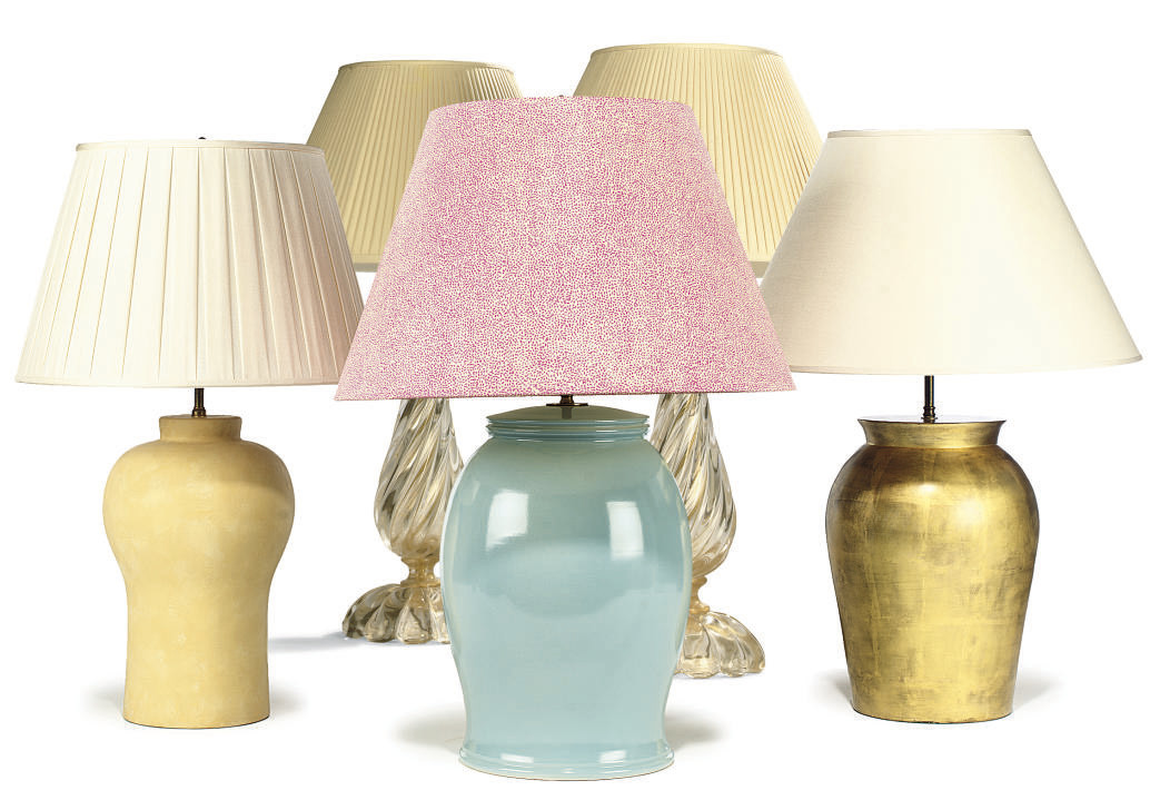 THREE ASSORTED PLASTER LAMPS